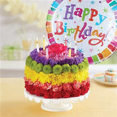1 800 Flowers Birthday Wishes Flower Cake Rainbow Parvin S Mill